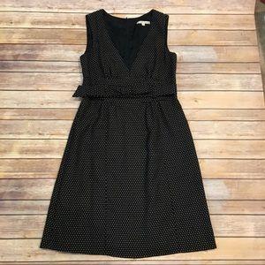 Nanette Lepore Black Wool Dress with Belt, Size 8